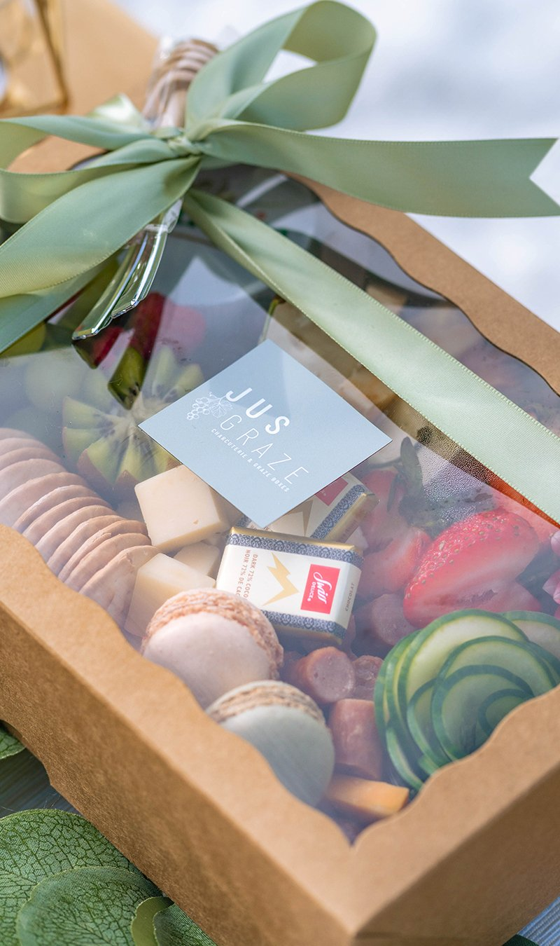 Charcuterie Box from Jus Graze. Vegan options available as well!